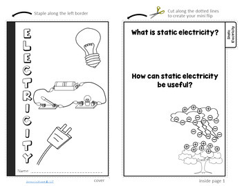 Electricity Flip Book Review Activity and Study Guide