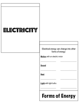 Electricity Flip Book {Aligned to SC Standards}