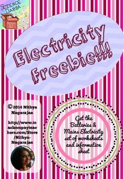 Electricity Freebie!!! - Explore and List homework worksheet