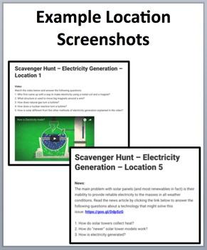 Electricity Generation – Device-Based Scavenger Hunt Activity