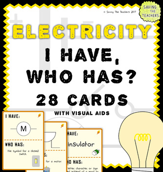 Electricity: I Have, Who Has? Game Cards