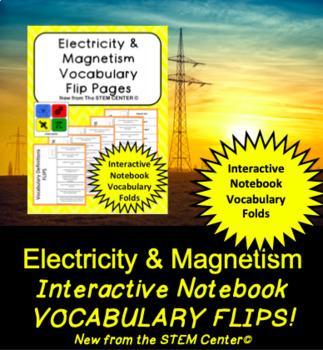 Electricity INB Vocabulary Flips
