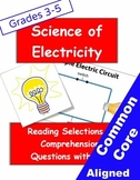 Electricity Informational Reading Selections and Questions for Grades 3-5