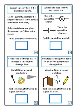 Electricity Interactive Adapted Science Book, Special Education, Autism
