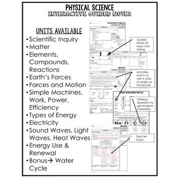 Sound, Light, Heat Waves Interactive Guided Notes and PowerPoints NGSS, Google