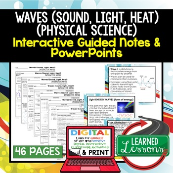 Sound, Light, Heat Waves Guided Notes and PowerPoints NGSS, Google