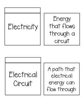 Electricity Interactive Notebook