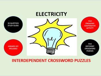 Electricity: Interdependent Crossword Puzzles Activity