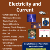 Electricity and Current - Electricity PowerPoint Lesson and Notes