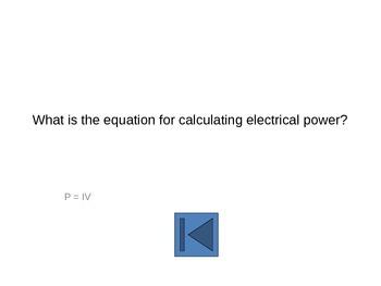 Electricity Jeopardy