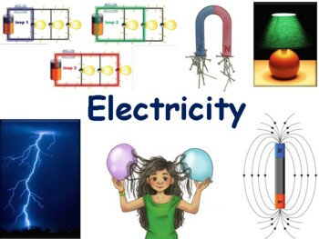 Electricity Lesson & Flashcards- classroom unit, study guide, state exam prep