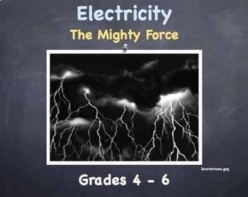 Electricity Lesson - Grades 4 -6
