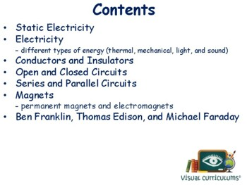 Electricity Lesson - classroom unit, study guide, state exam prep