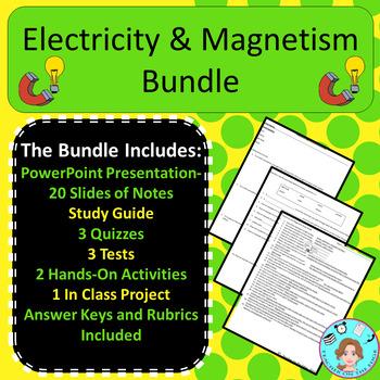 Electricity & Magnetism Unit Bundle – Upper Elementary – No Prep, Print & Go