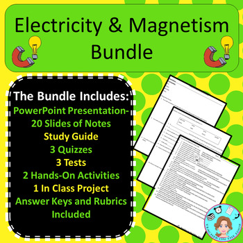 Electricity And Magnetism Unit Worksheets & Teaching Resources | TpT