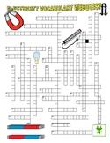 Electricity & Magnetism Vocabulary (Crossword Webquest) / Answer Key