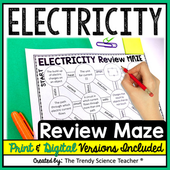 Electricity Review Maze (Editable Worksheet)