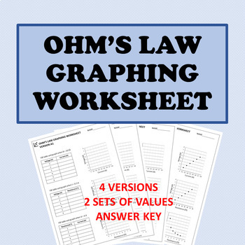 Electricity: Ohm's Law Graphing Worksheet