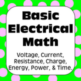 Electricity: Ohm's Law & Other Basic Electrical Math Problems with Solutions#1-4