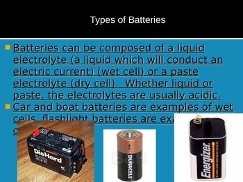 Electricity Overview (batteries circuits voltage)