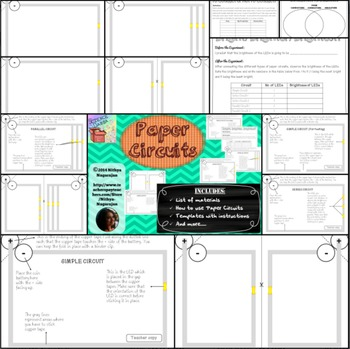 Electricity - Paper Circuits - Templates, Activity Pages & Worksheets