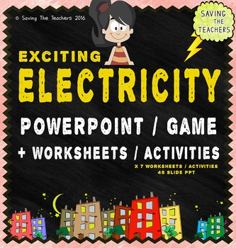 Electricity PowerPoint and Worksheets / Activities Bundle