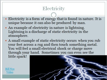 SOL 4.3: Electricity Powerpoint