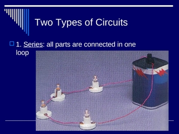 Electricity Presentation (ohms series parallel circuits