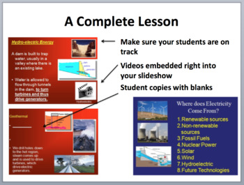 Electricity Production - Complete 5E Lesson Bundle