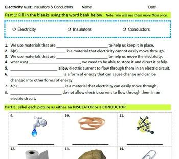 Electricity Quizzes