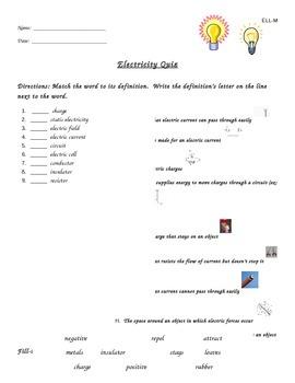 Electricity Quiz, ESL