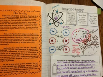 Electricity Reading Comprehension Interactive Notebook