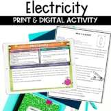 Electricity Nonfiction Article and Activity