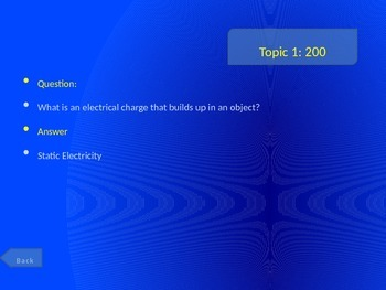 Electricity Review Game