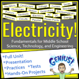 Electricity STEM Unit for Middle School Science, Technolog