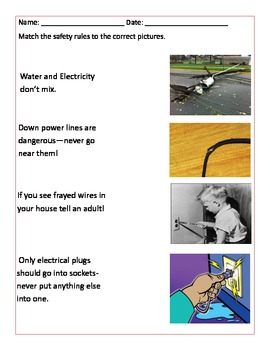 Electricity Saftey Packet