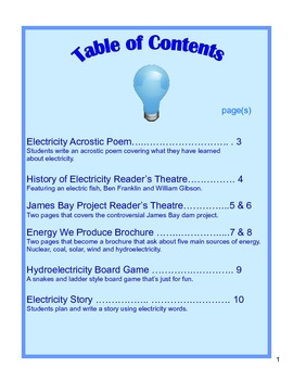 Electricity Science Activities