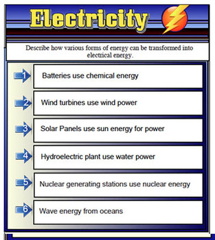 Electricity - Science Smart Board File 52 Pages