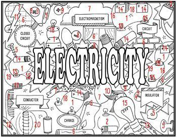 Electricity Seek and Find Science Doodle Page