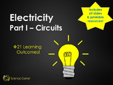 Electricity, Electric circuits, series and parallel, voltage, current, diagrams