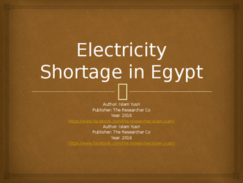 Electricity Shortage in Egypt