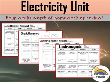 Electricity Spiral Review or Homework