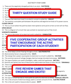 Electricity: Study Guide and Activity Pack