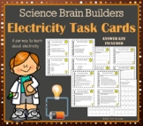 Electricity Task Cards - 40 Science Brain Builders About Electrical Energy