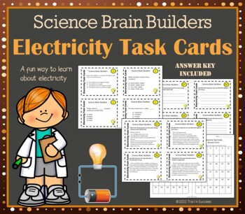 Electricity Task Cards - 40 Task Cards Cover Most States'
