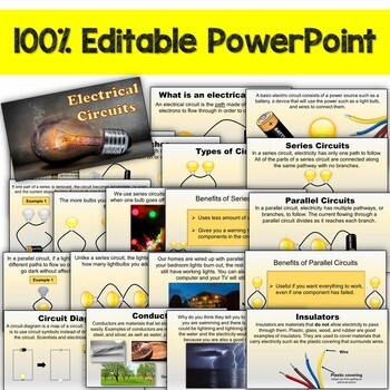 Electricity- Circuits Series, Parallel, Conductor, Insulator - Distance Learning