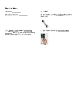 Electricity Unit Exam Study Guide