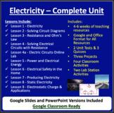 Electricity Unit - Current and Static Electricity Unit Bundle
