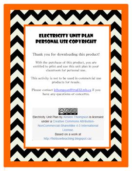 Electricity Unit Plan