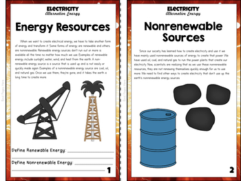 Electricity Unit Study: Alternative Energy